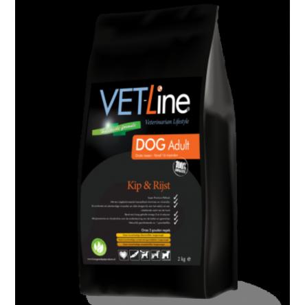 VET-Line Dog Adult Grote Rassen Kip & Rijst